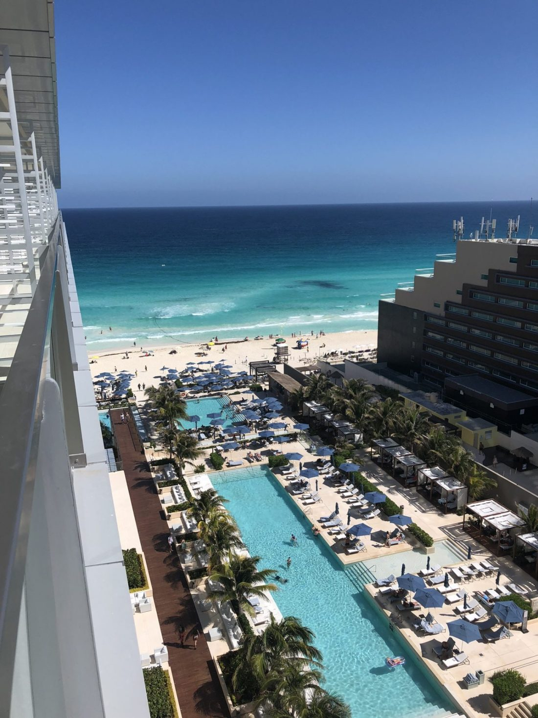 Ocean view from our room in Cancun