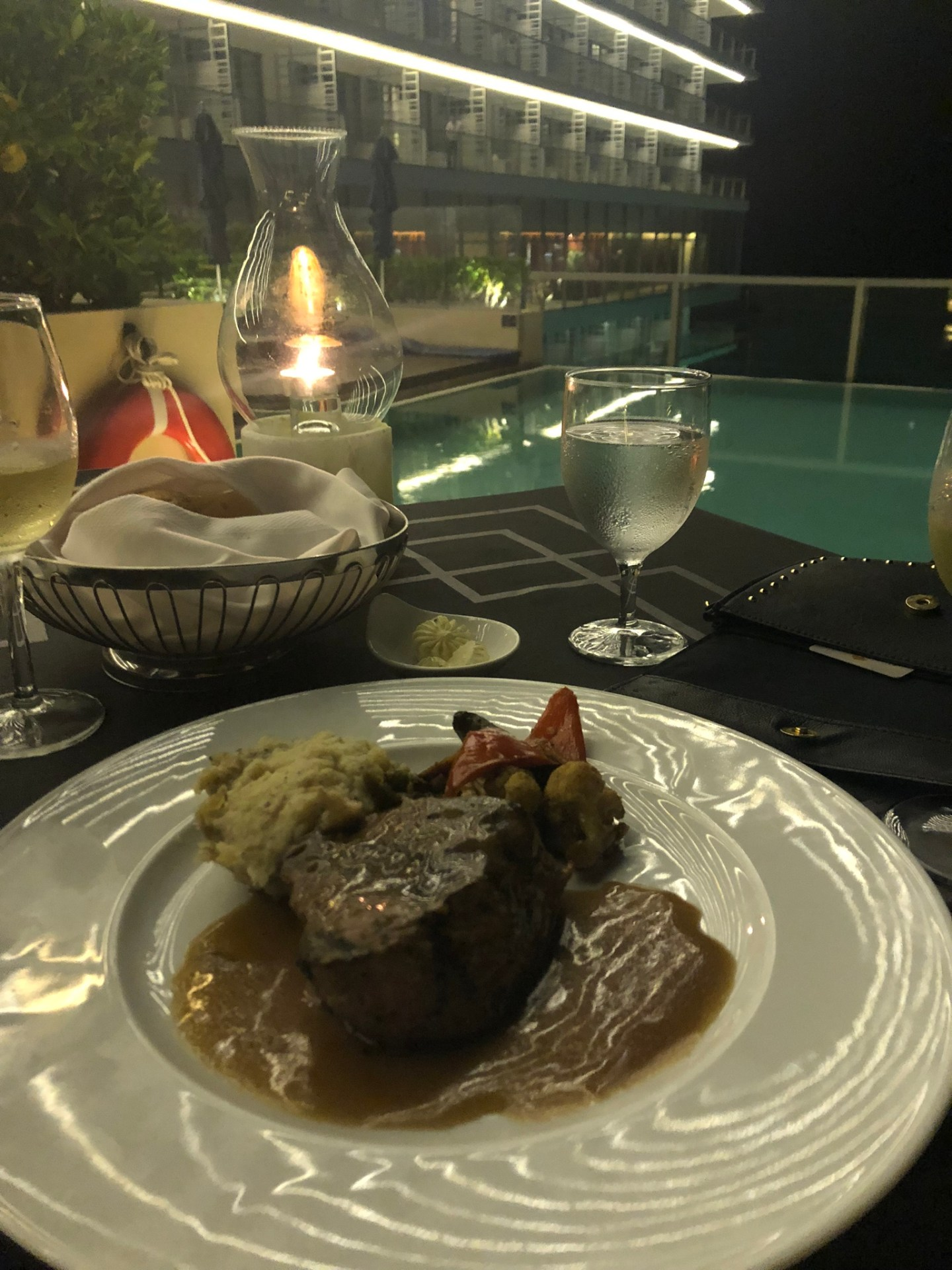 Fillet steak at Blue Water Grill, Cancun