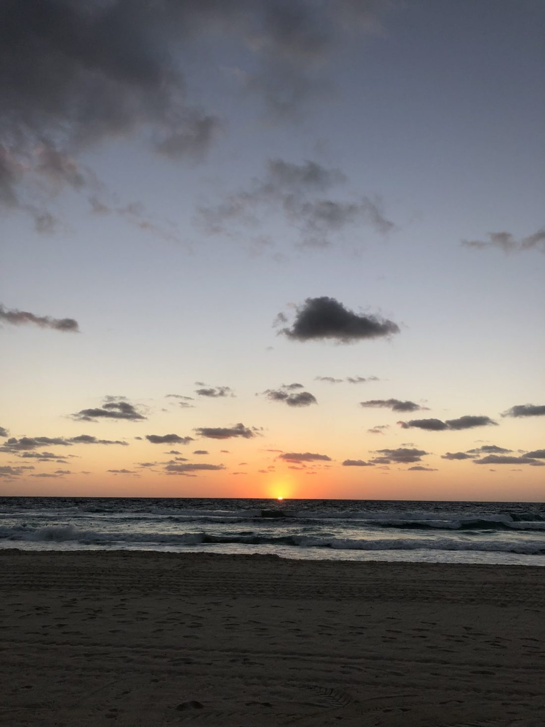 Sunrise at Cancún