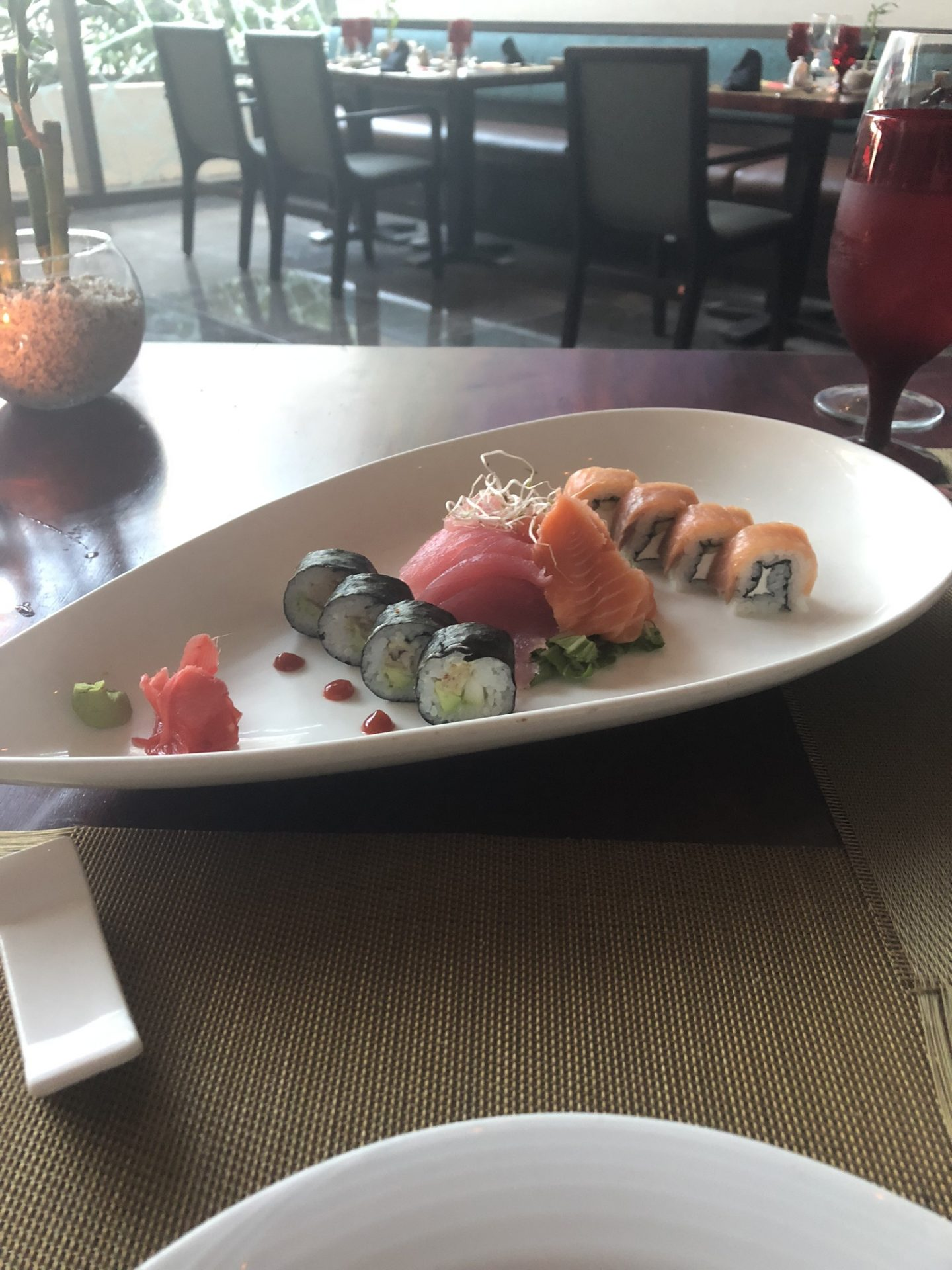 Sushi from Dragons, Secrets The Vine Cancún