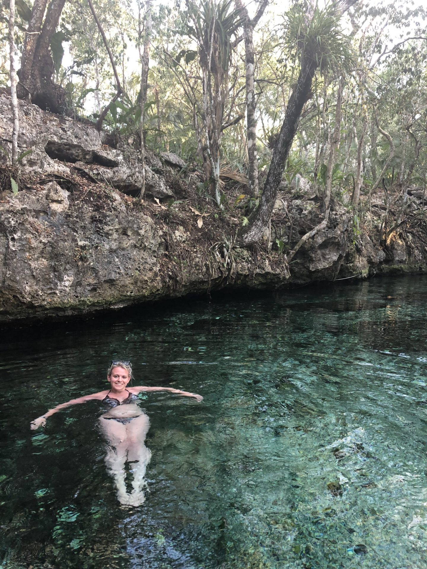 Cenote swimming in Mexico