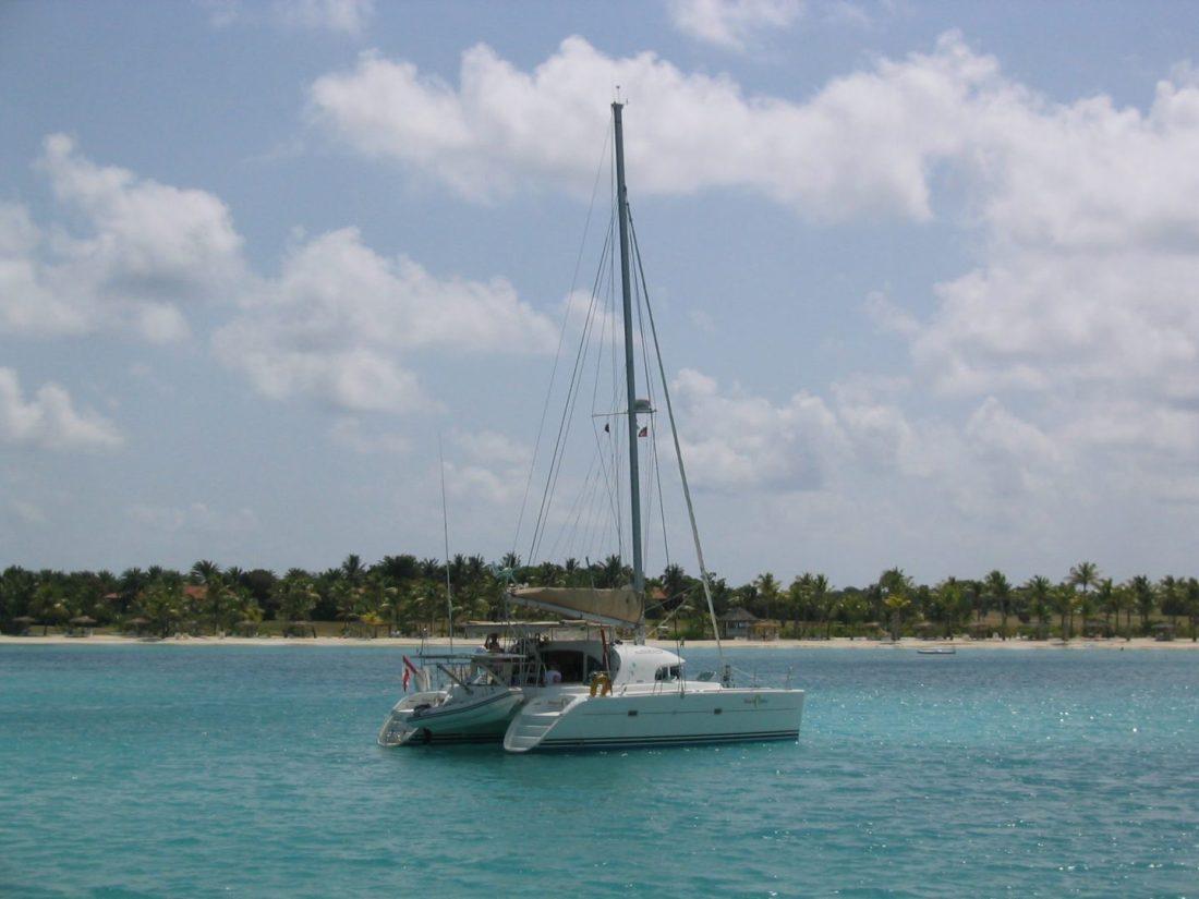 Catamaran in Antigua, Caribbean