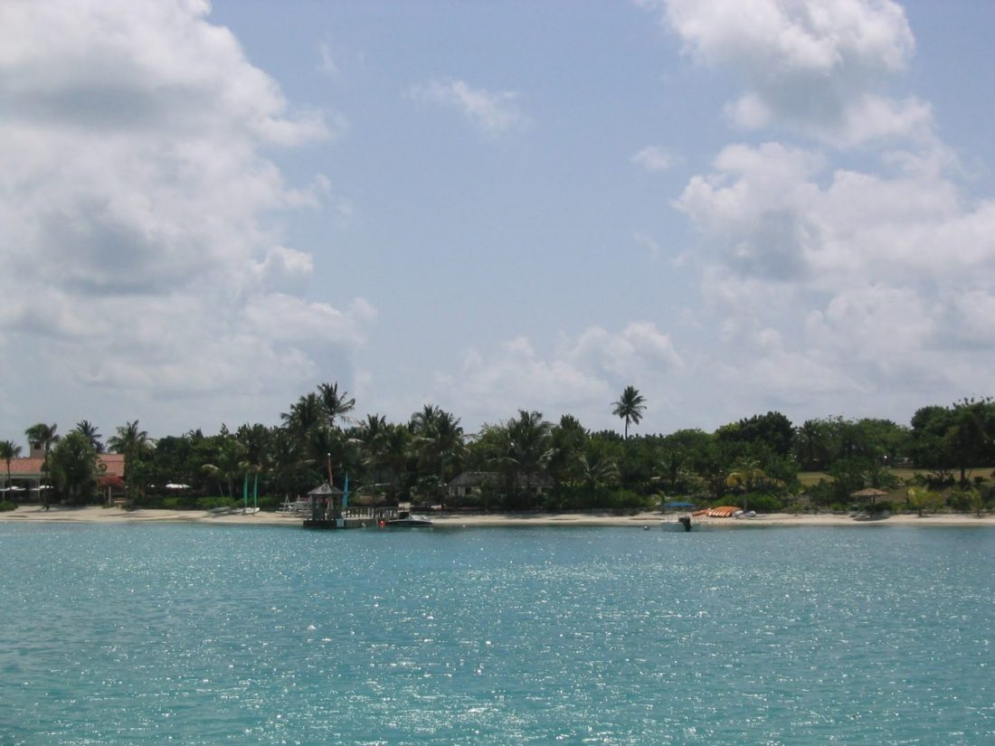Views sailing across Antigua