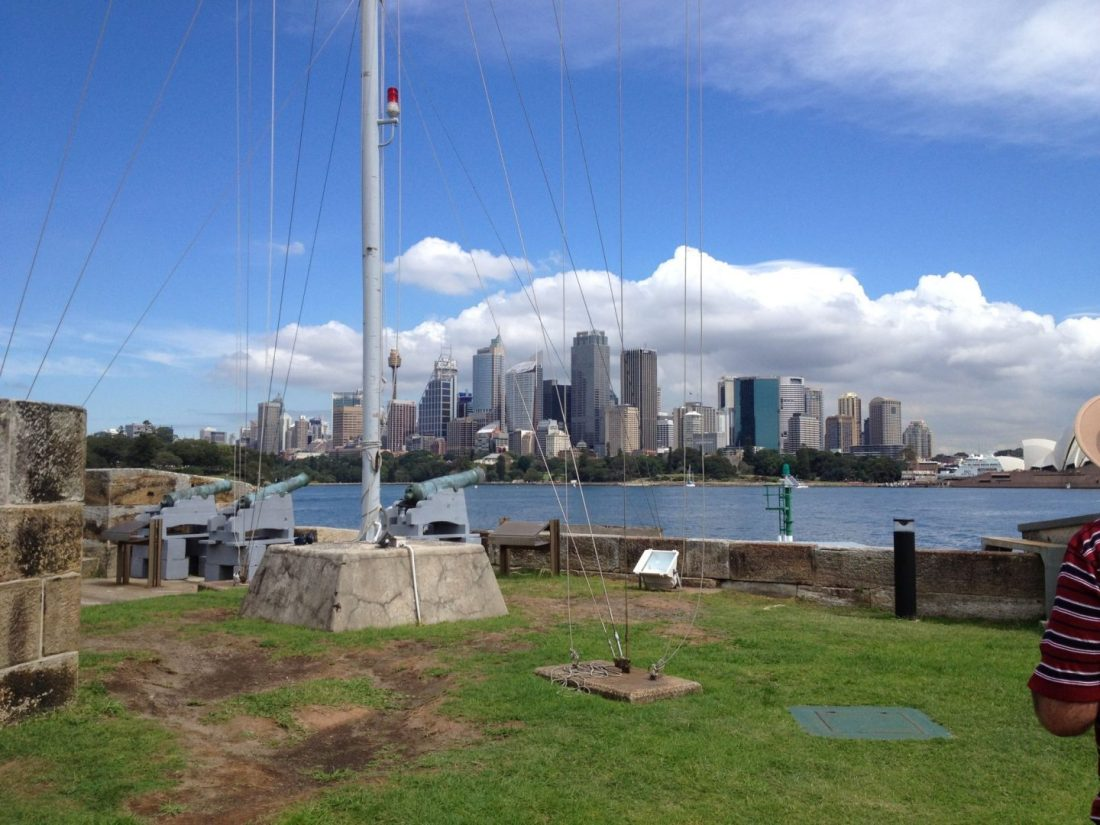 Views to Sydney from Fort Denison