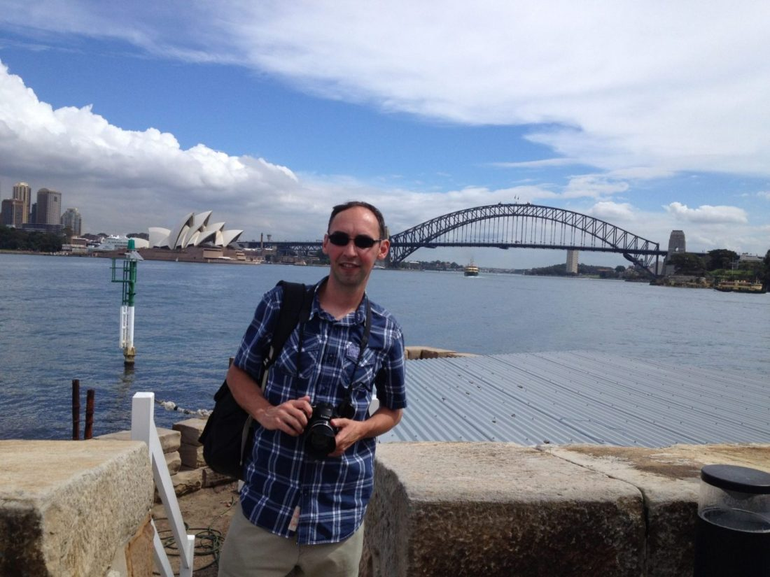 Paul on Fort Denison, Sydney