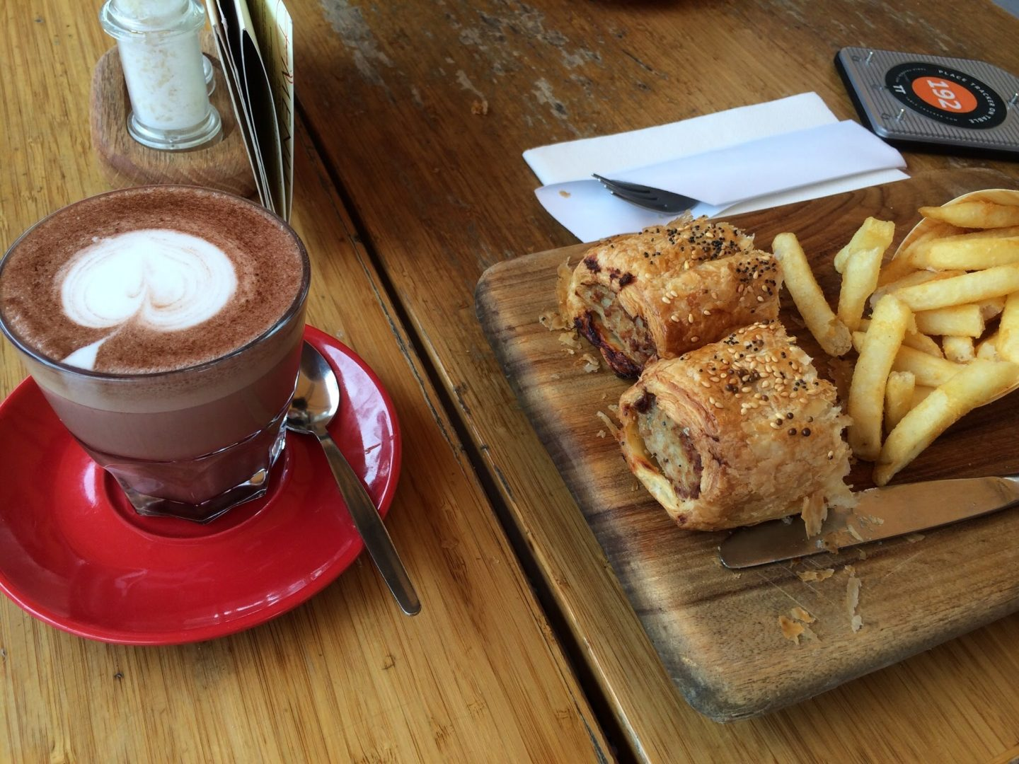 Food and coffee at Opera Bar, Sydney