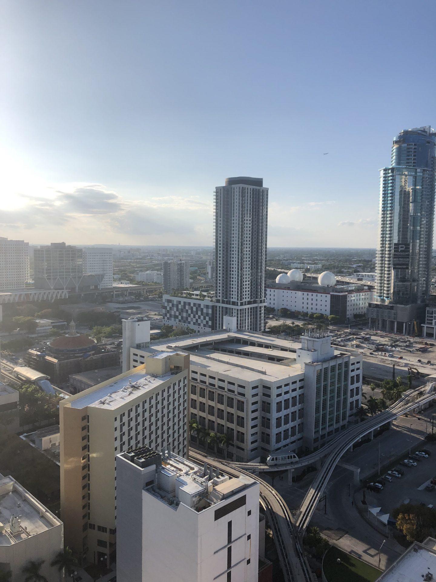 Views of Miami port