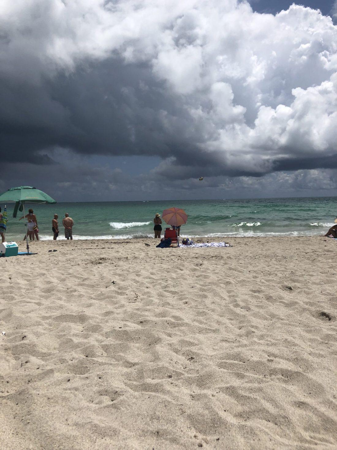Parasols on Miami Beach, Florida