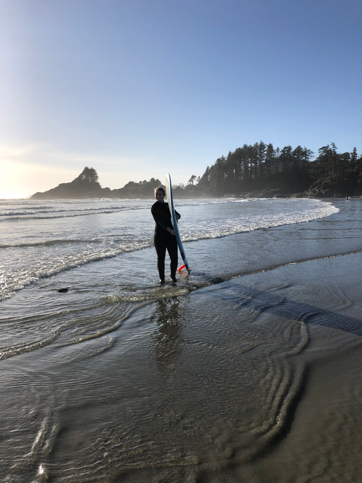 Surfing on Vancouver Island