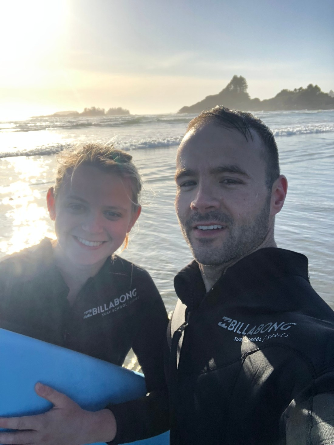Surfing in Tofino, Vancouver Island