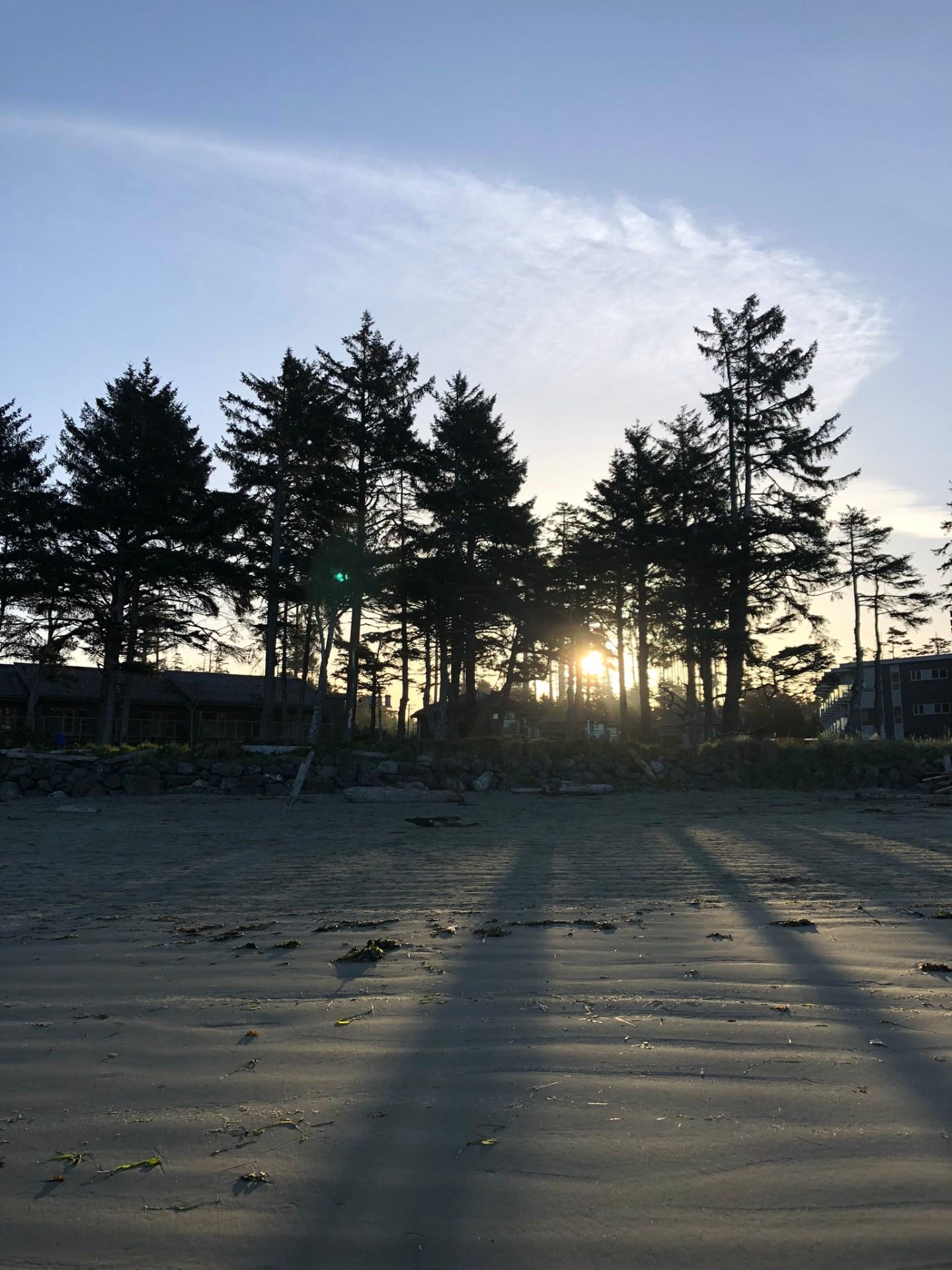 Sunset over Pacific Sands Beach Resort
