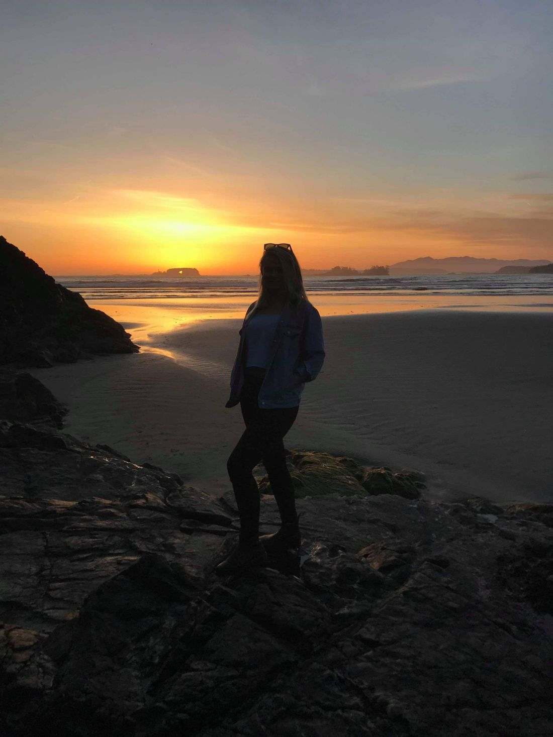 Laura in the sunset on Vancouver Island