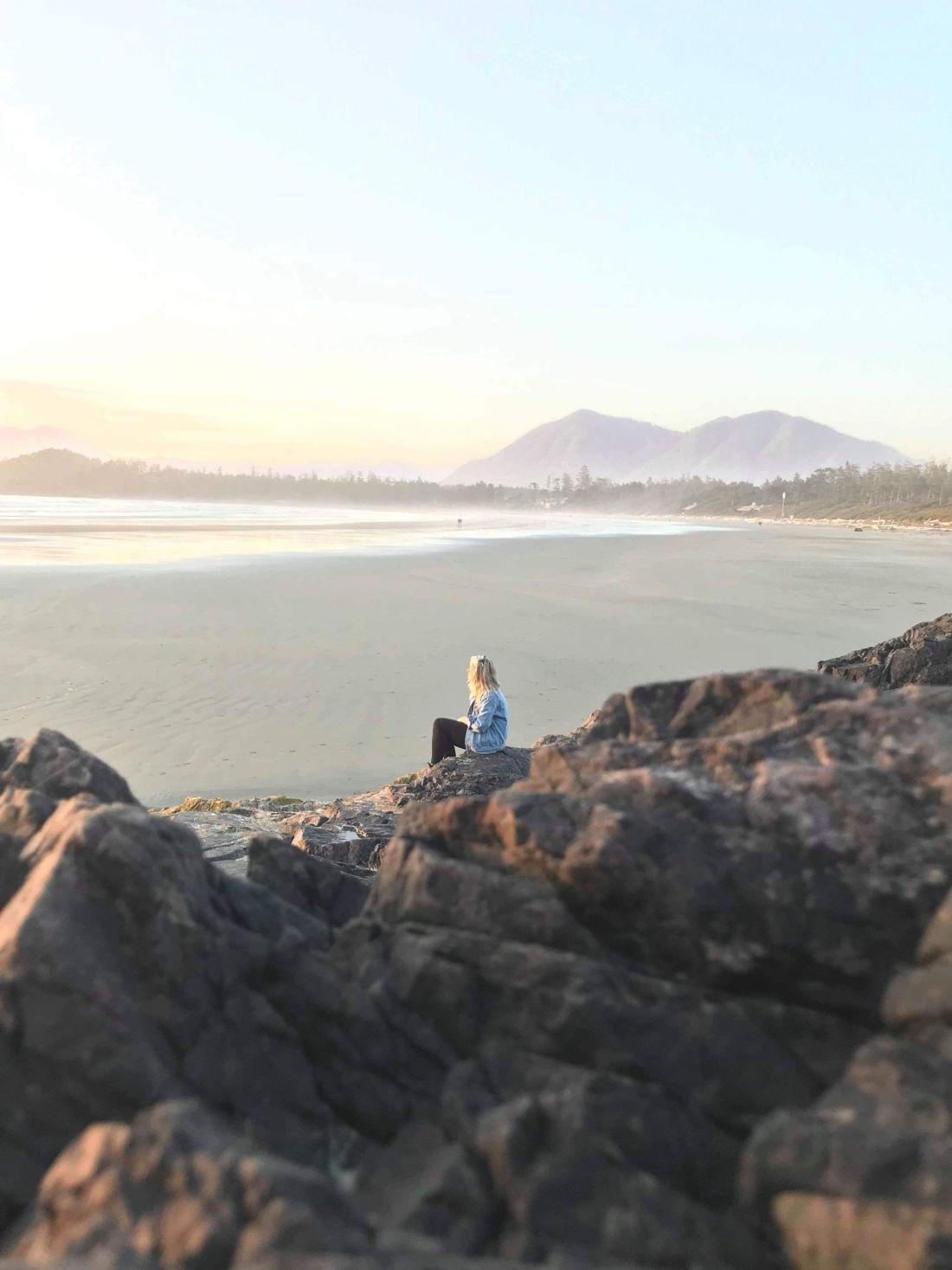 Laura in Tofino, Vancouver Island