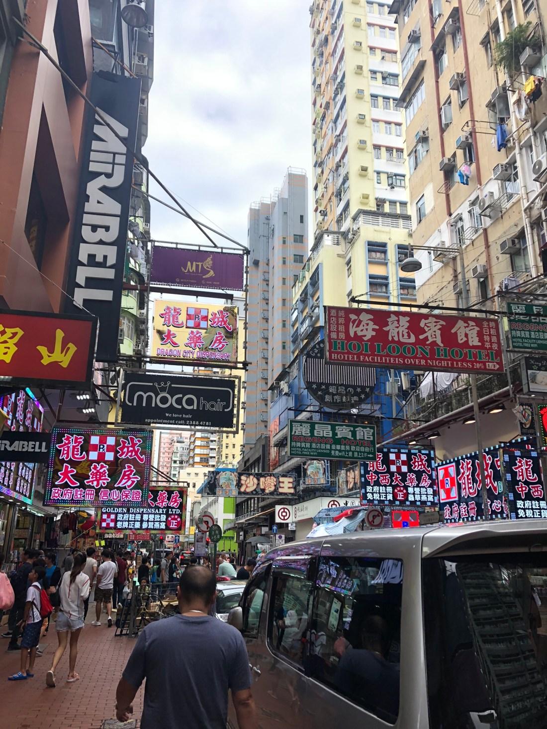 Neon signs of Mong Kok, Hong Kong