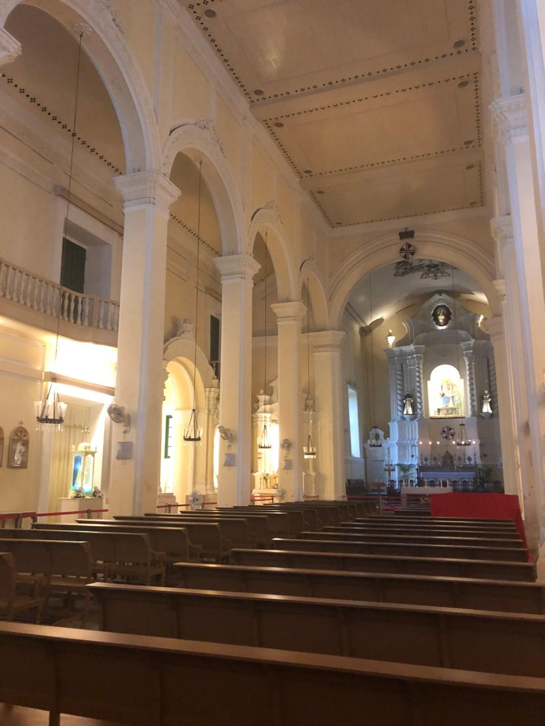 Inside St Dominics Church, Macau