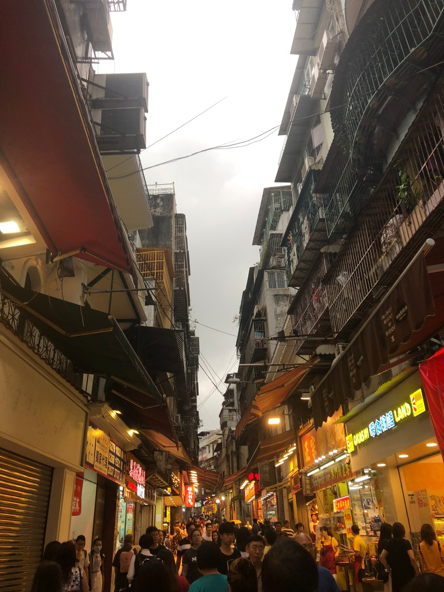 The streets of Macau, China