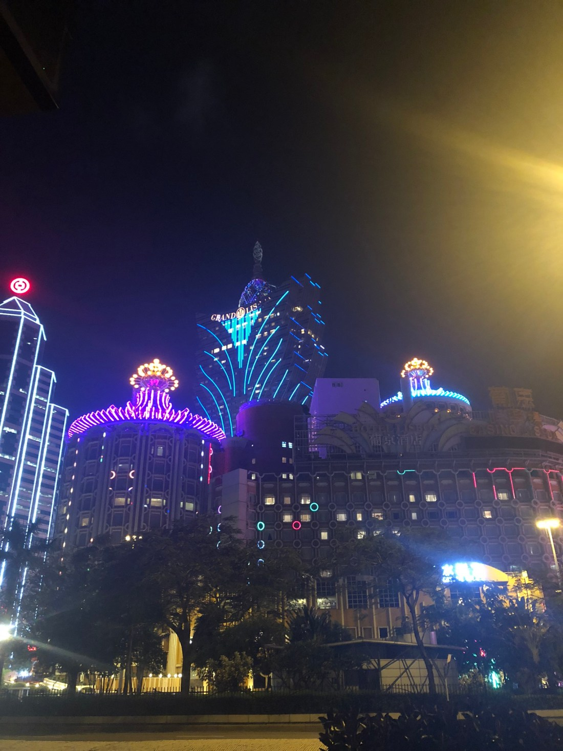 Neon lights of Macau, China