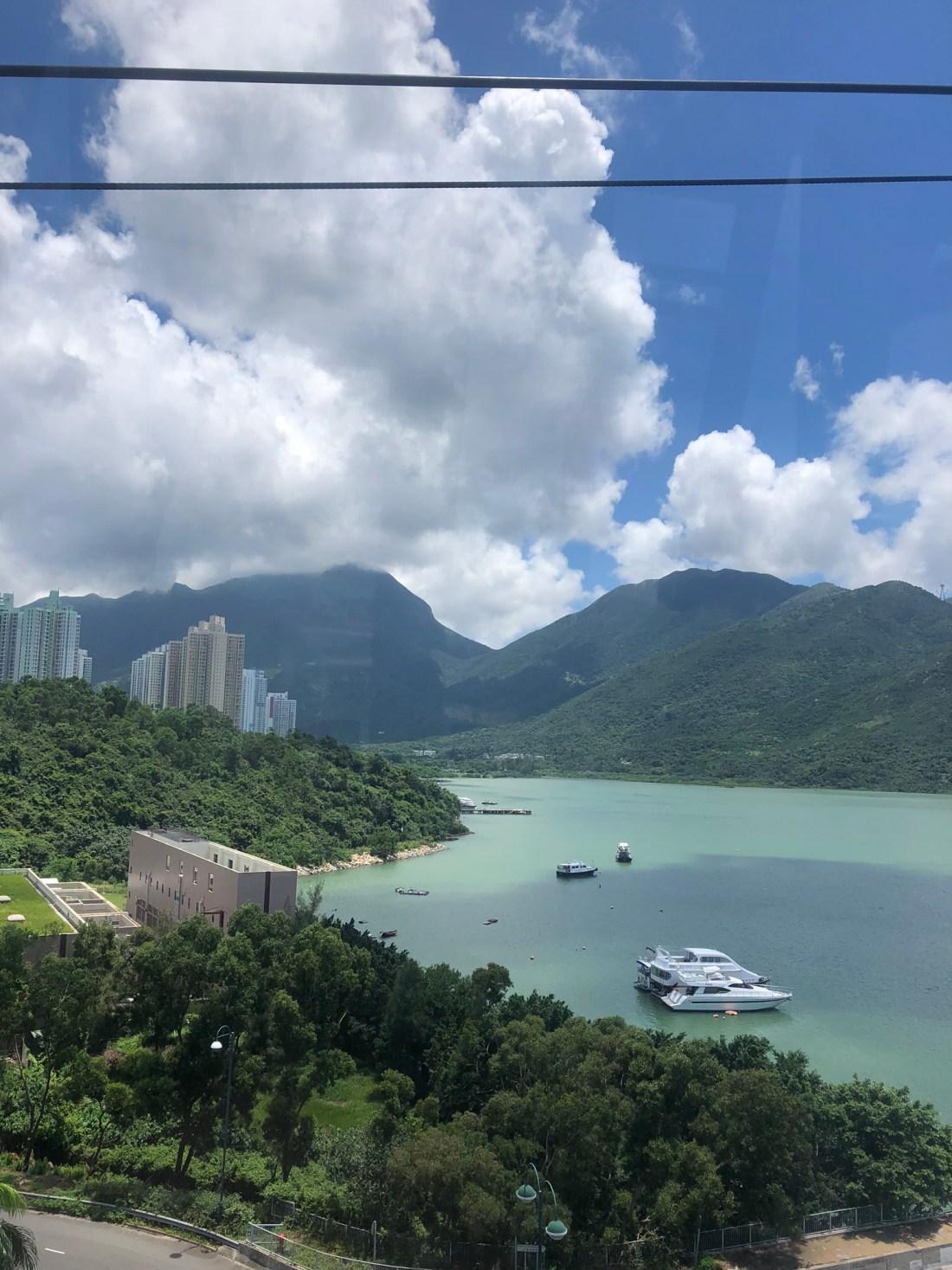 Views over Hong Kong from the Ngong Ping 360