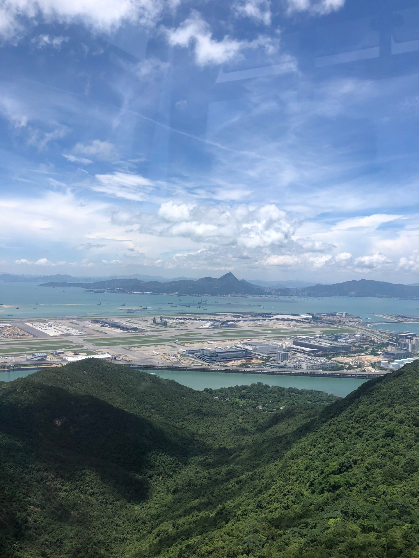 Airport views from Ngong Ping 360, Hong Kong