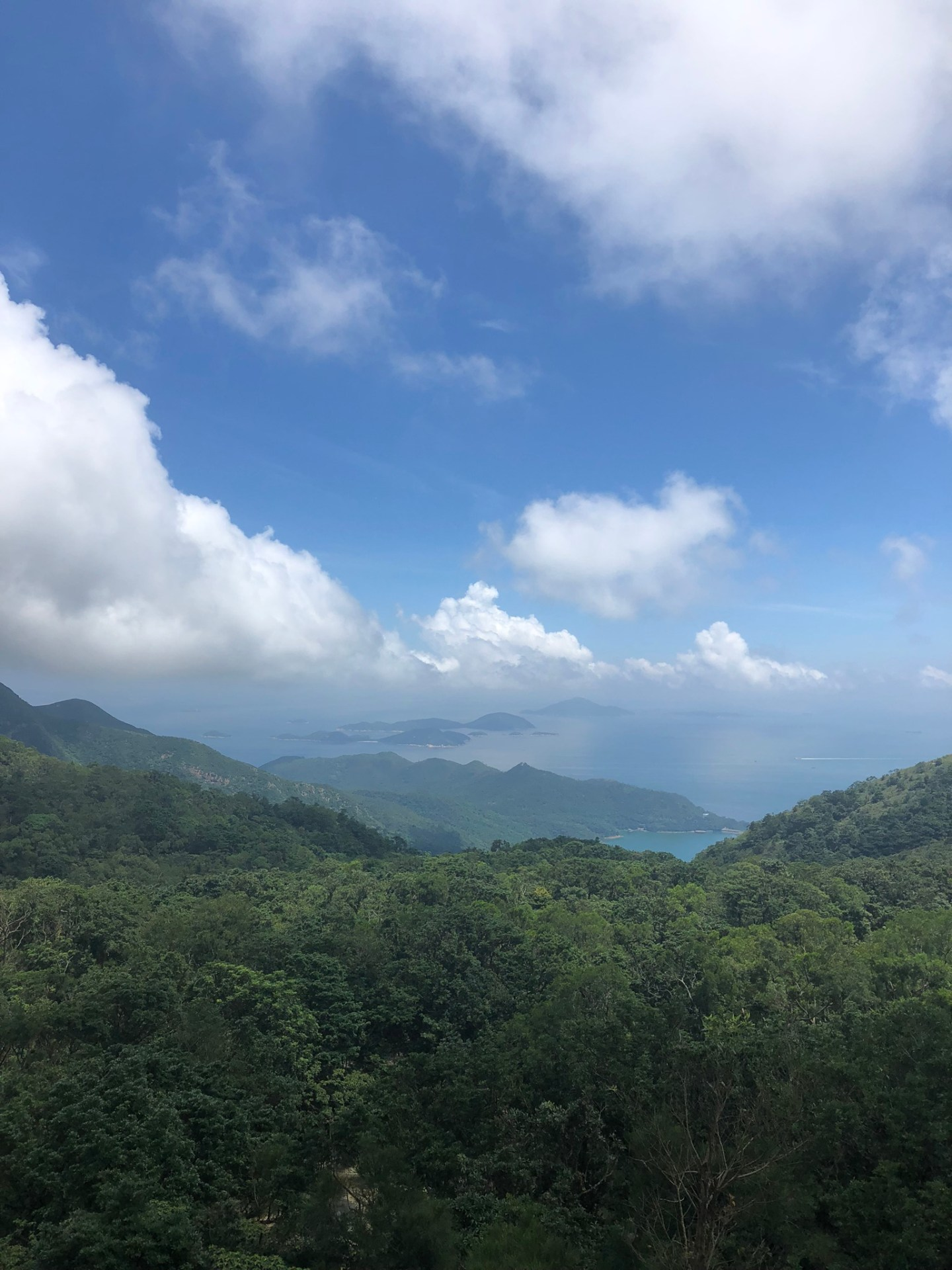 Views across Lantau Island from Tian Tan Buddha