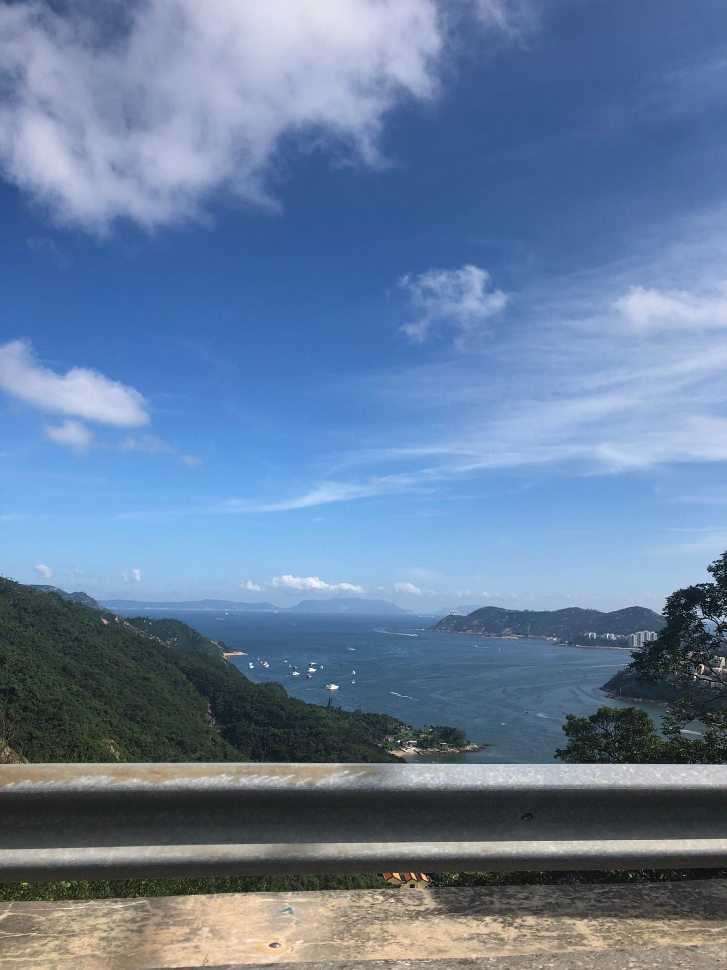 Views from Shek O to Hong Kong