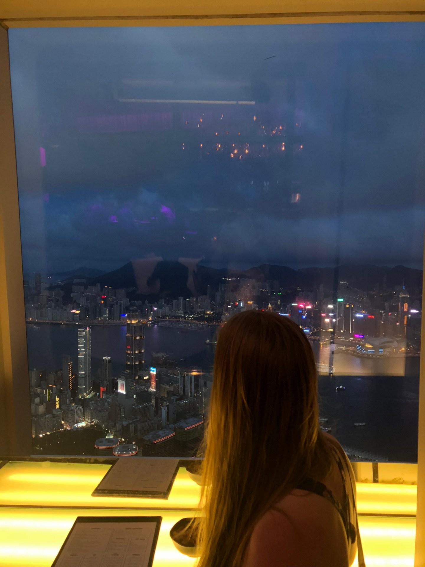 View from Ozone at the Ritz, Hong Kong