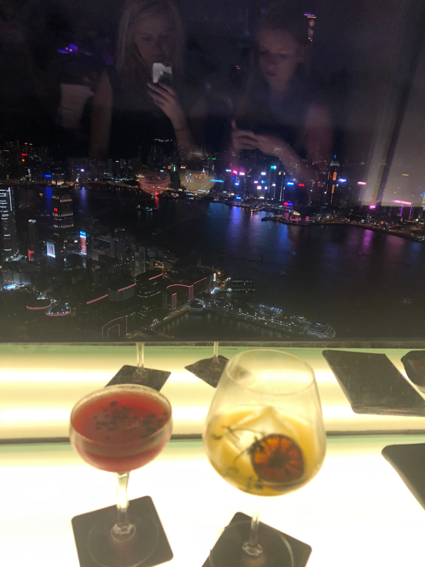 Drinks at the Ozone, Ritz, Hong Kong