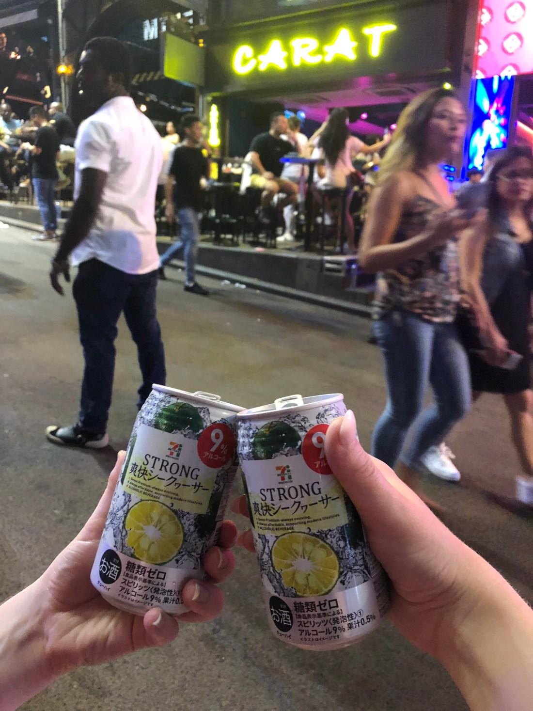 711 drinks in Lan Kwai Fong, Hong Kong