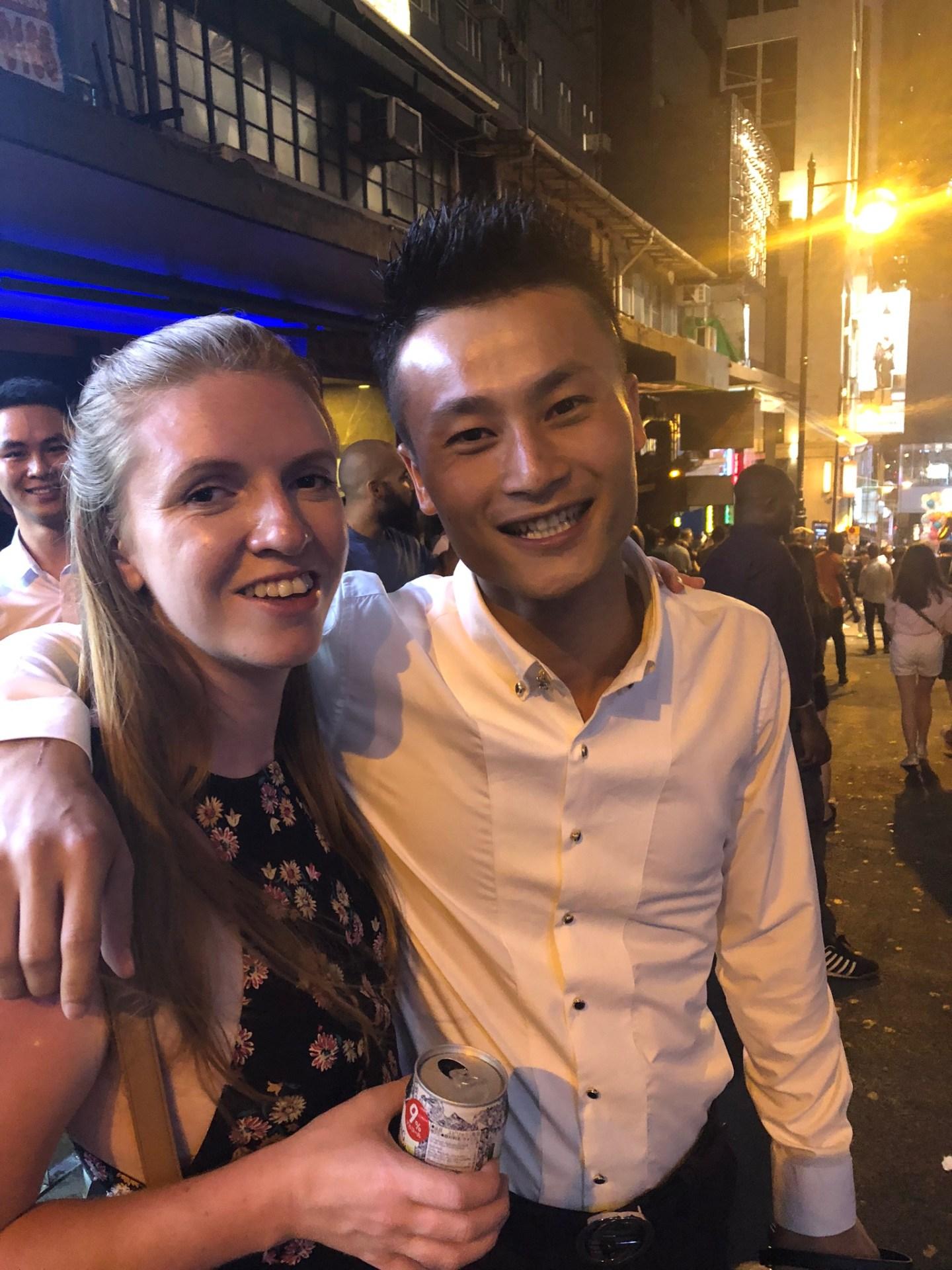 Friends in Lan Kwai Fong, Hong Kong