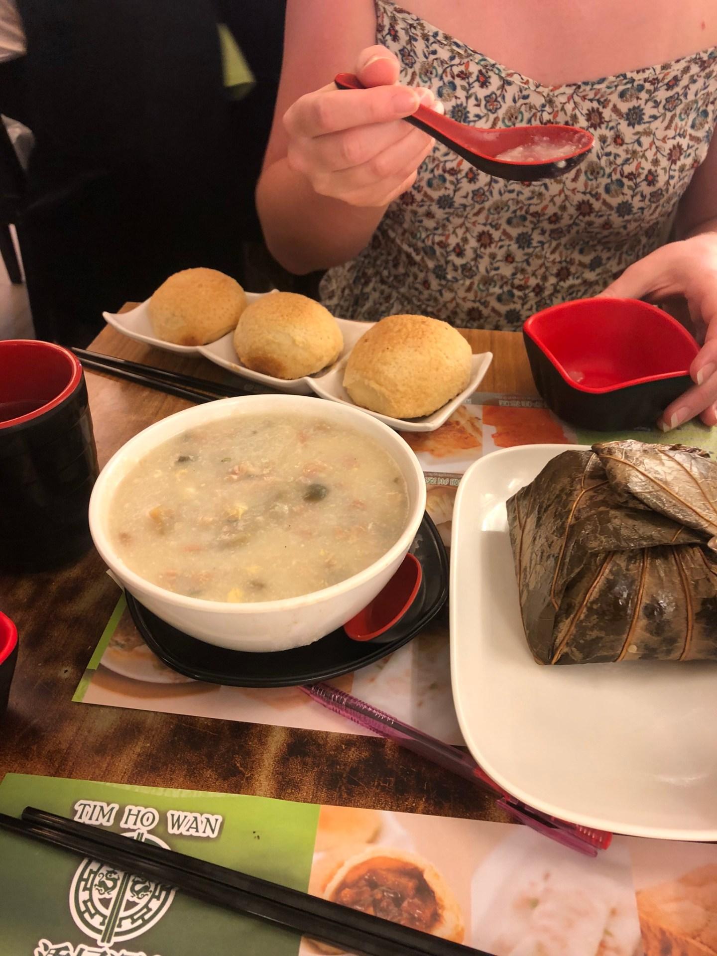 Food from Tim Ho Wan, Sham Shui Po