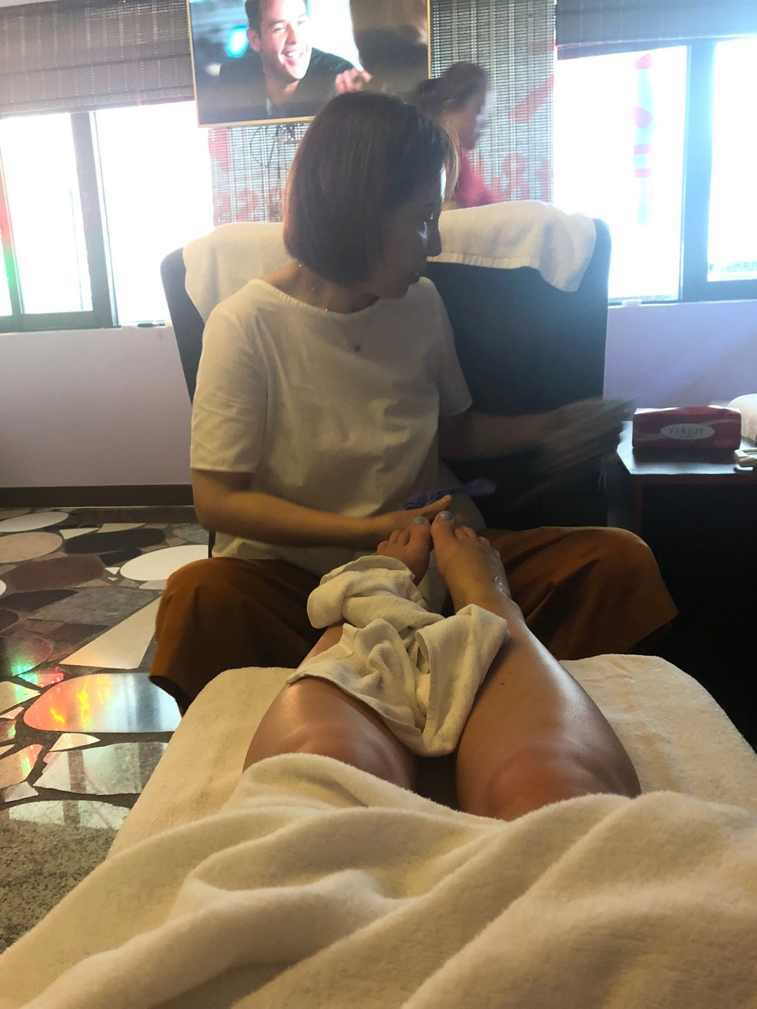 Foot massage in Hong Kong
