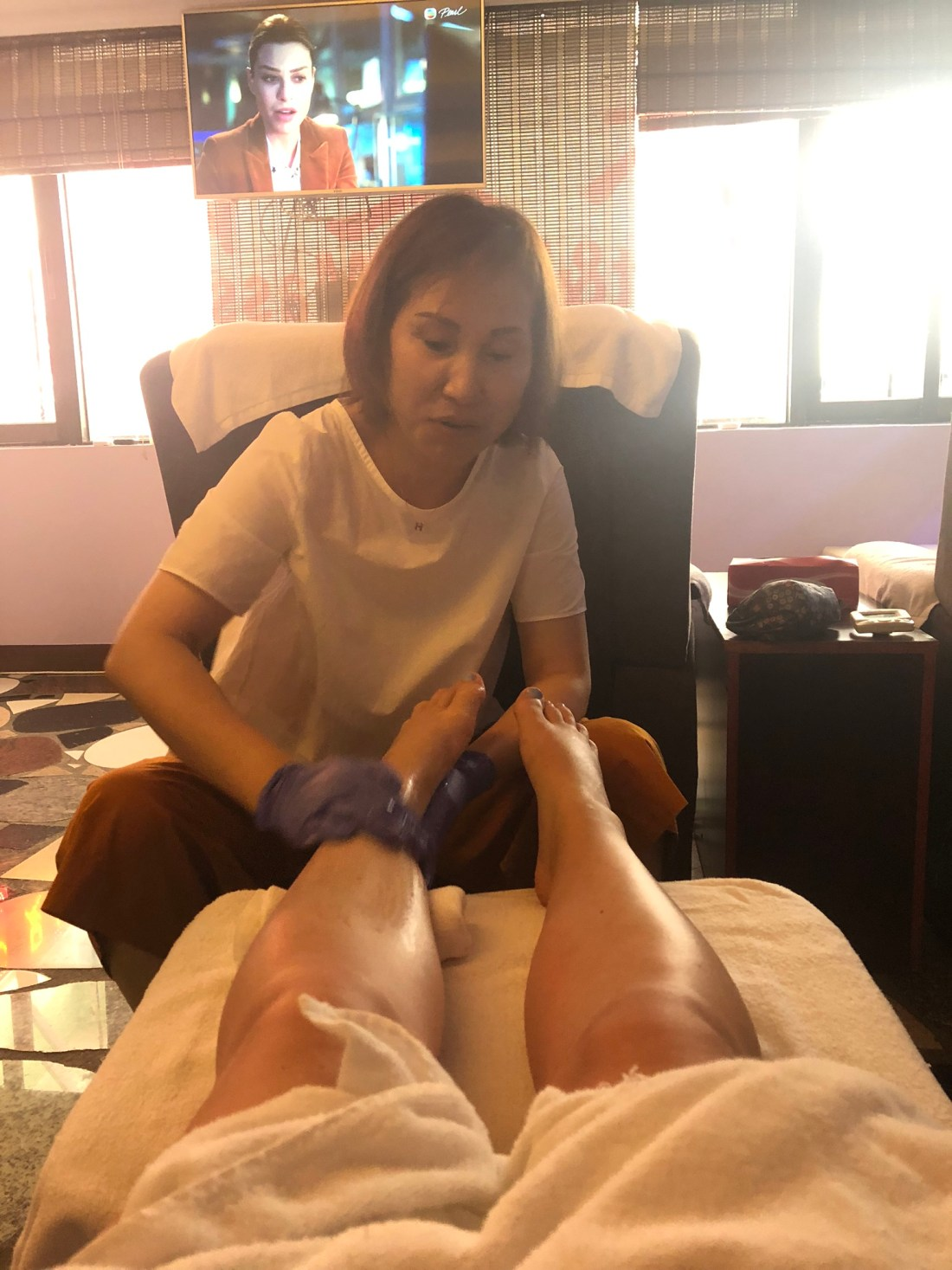 Foot massage in Hong Kong