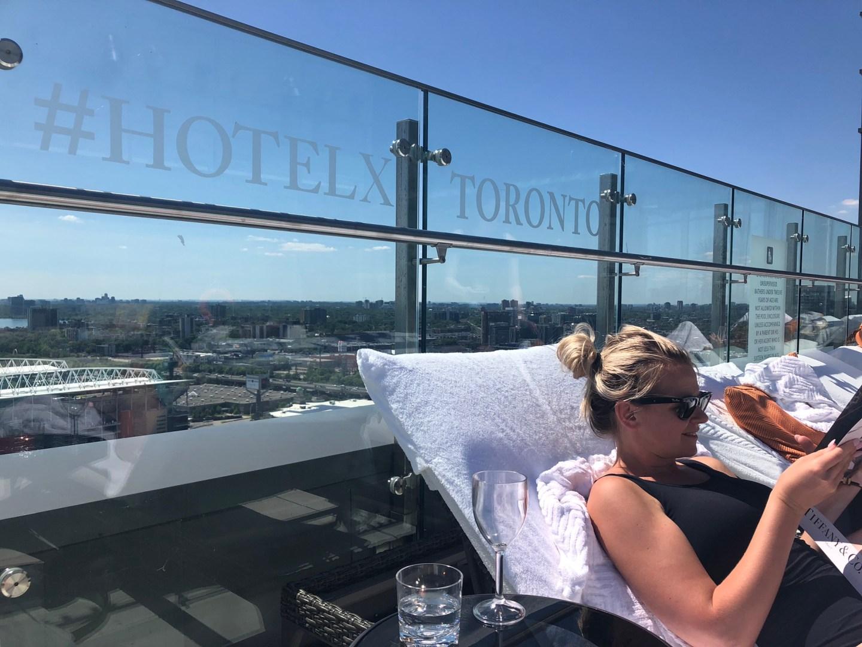 Summer in Toronto: sunbathing at Hotel X