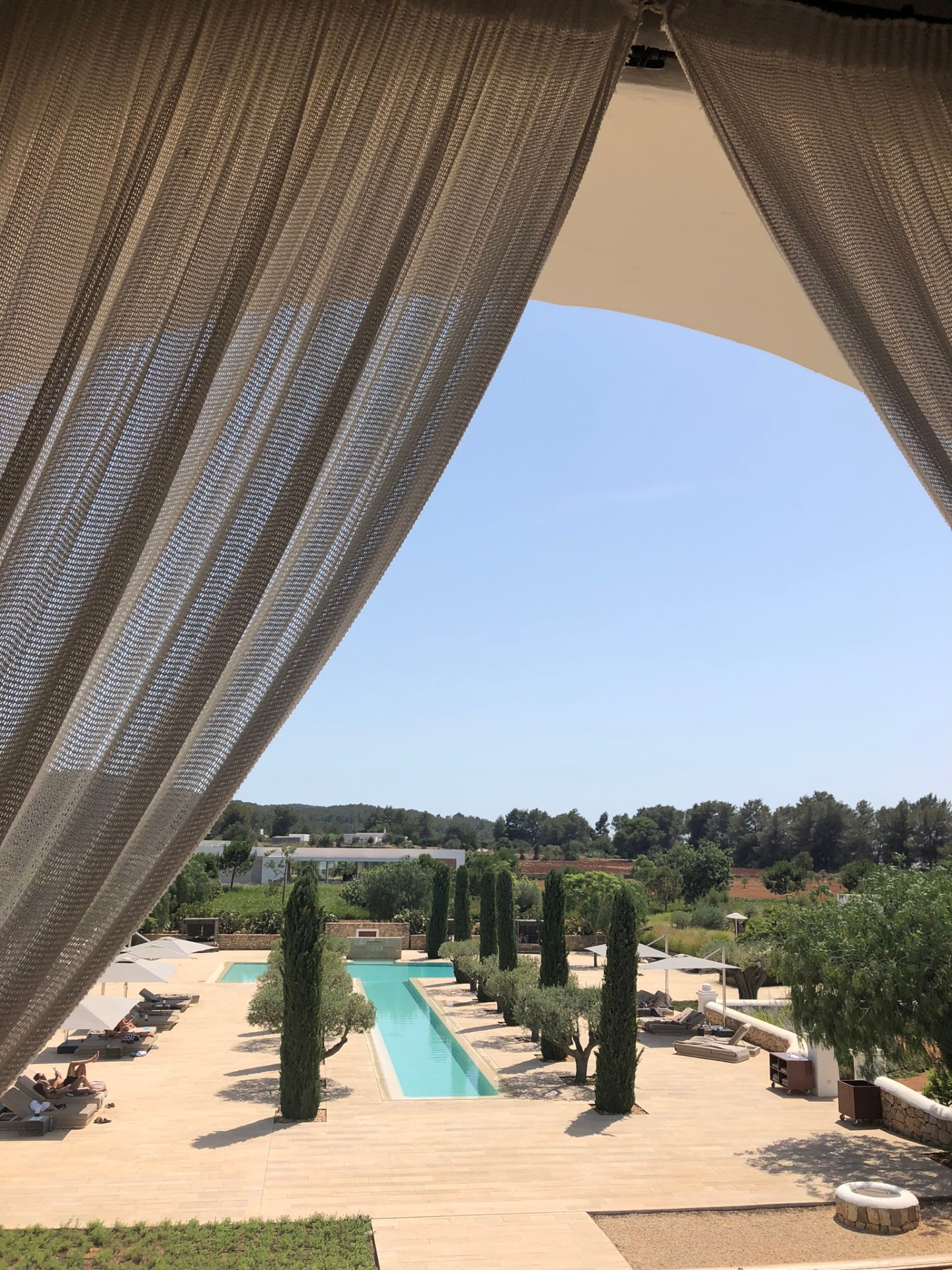 View over the Ca Na Xica pool, Ibiza