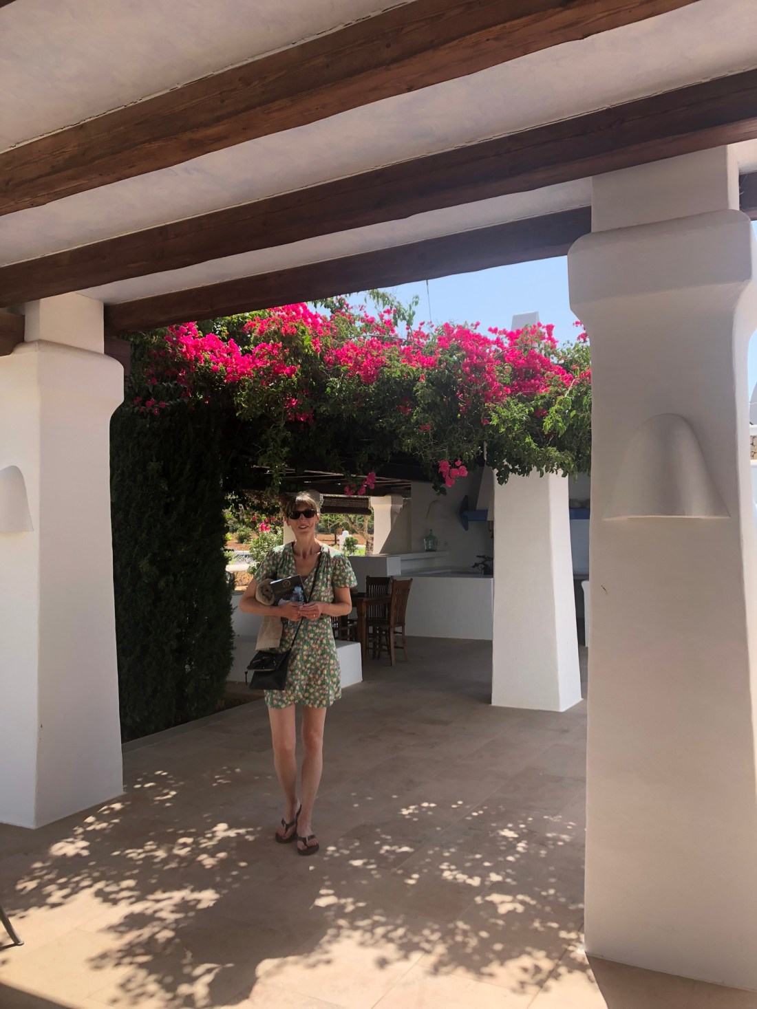 Mum in the Ibiza gardens