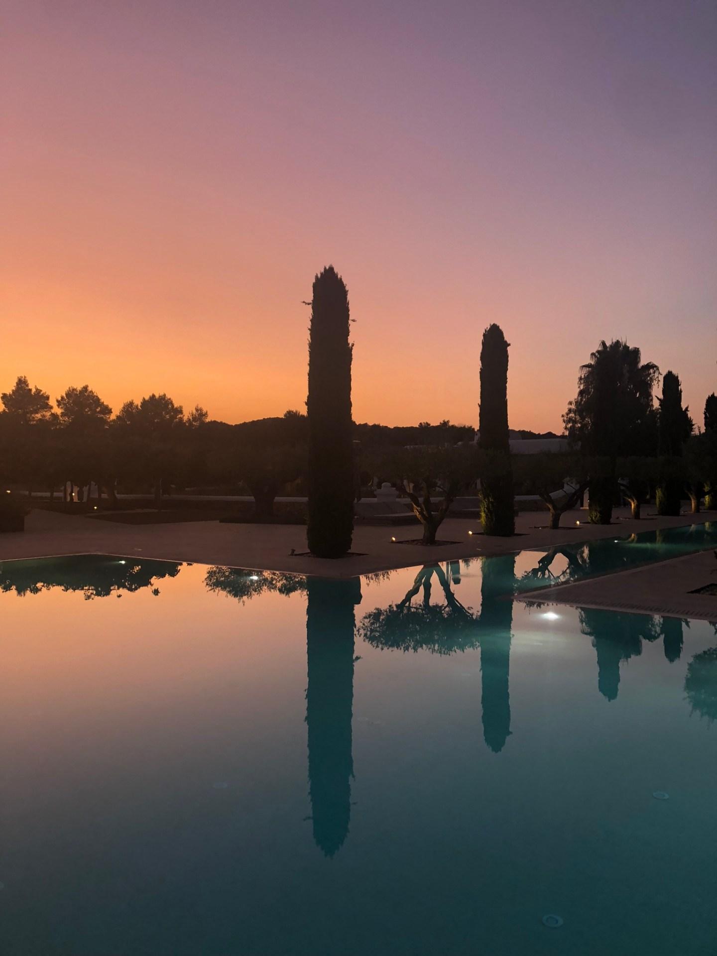 Sunset over Ibiza