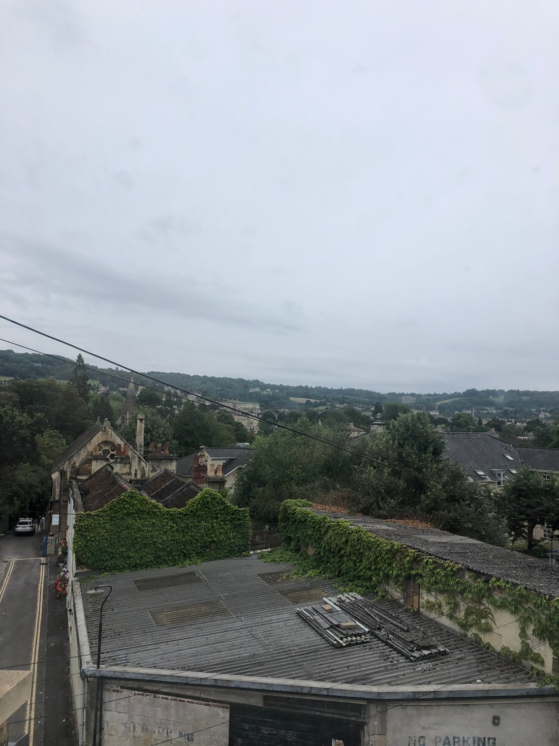 Views across Bath from the hen do house