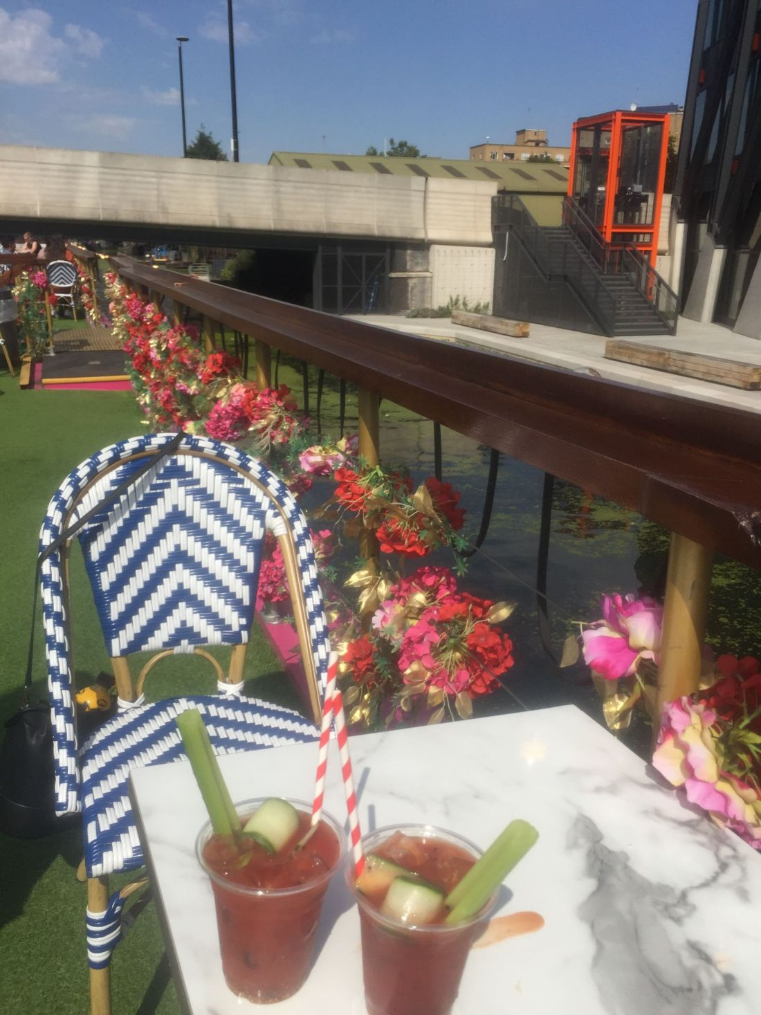 Brunch on a barge in London