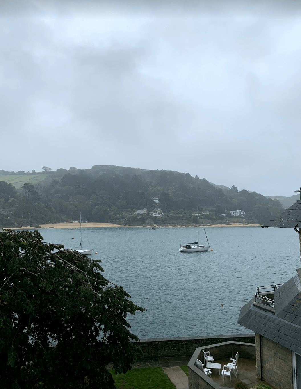 Rainy Salcombe, Devon