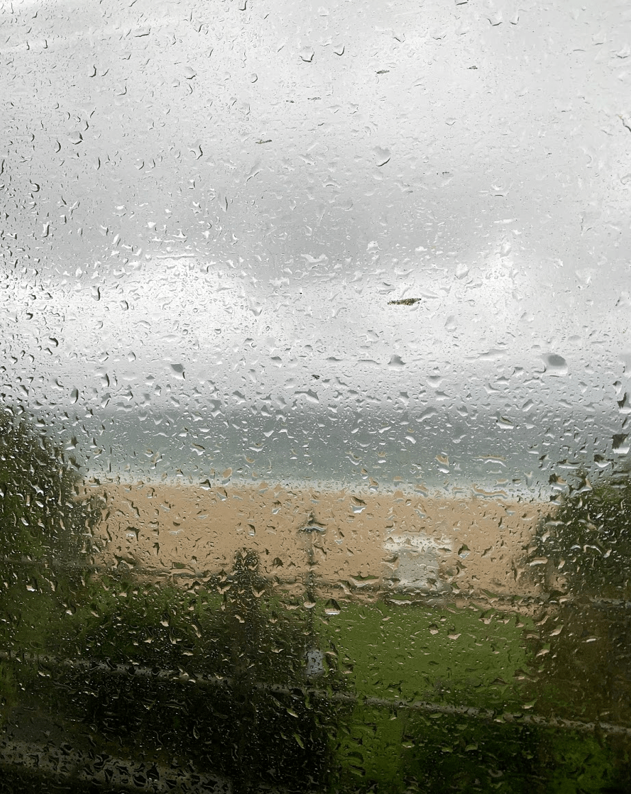 St Ives train in the rain