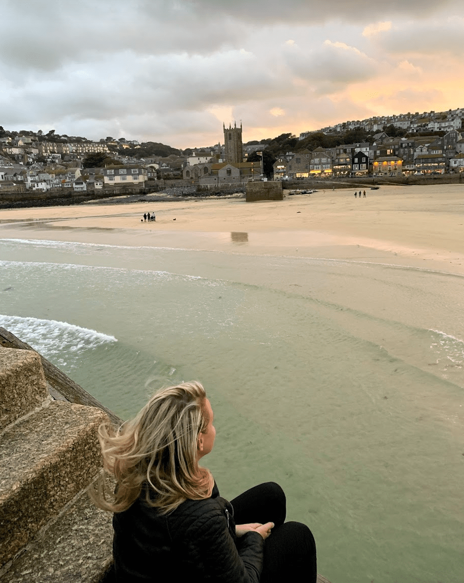 Laura during an evening in St Ives