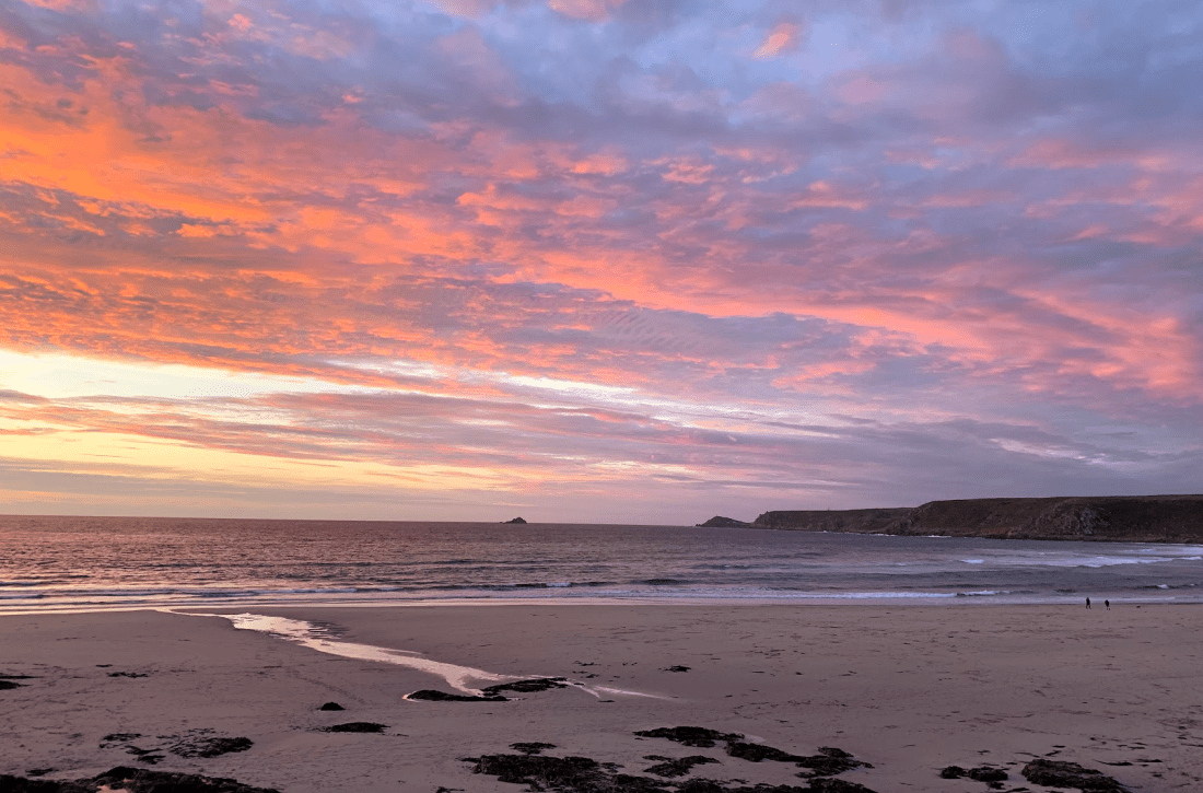 2019 sunset at Sennen Cove, Cornwall