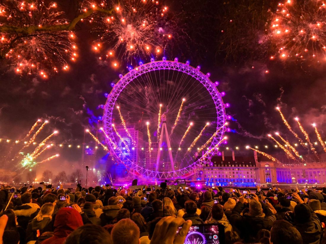 Best places to celebrate New Year's Eve: London, UK