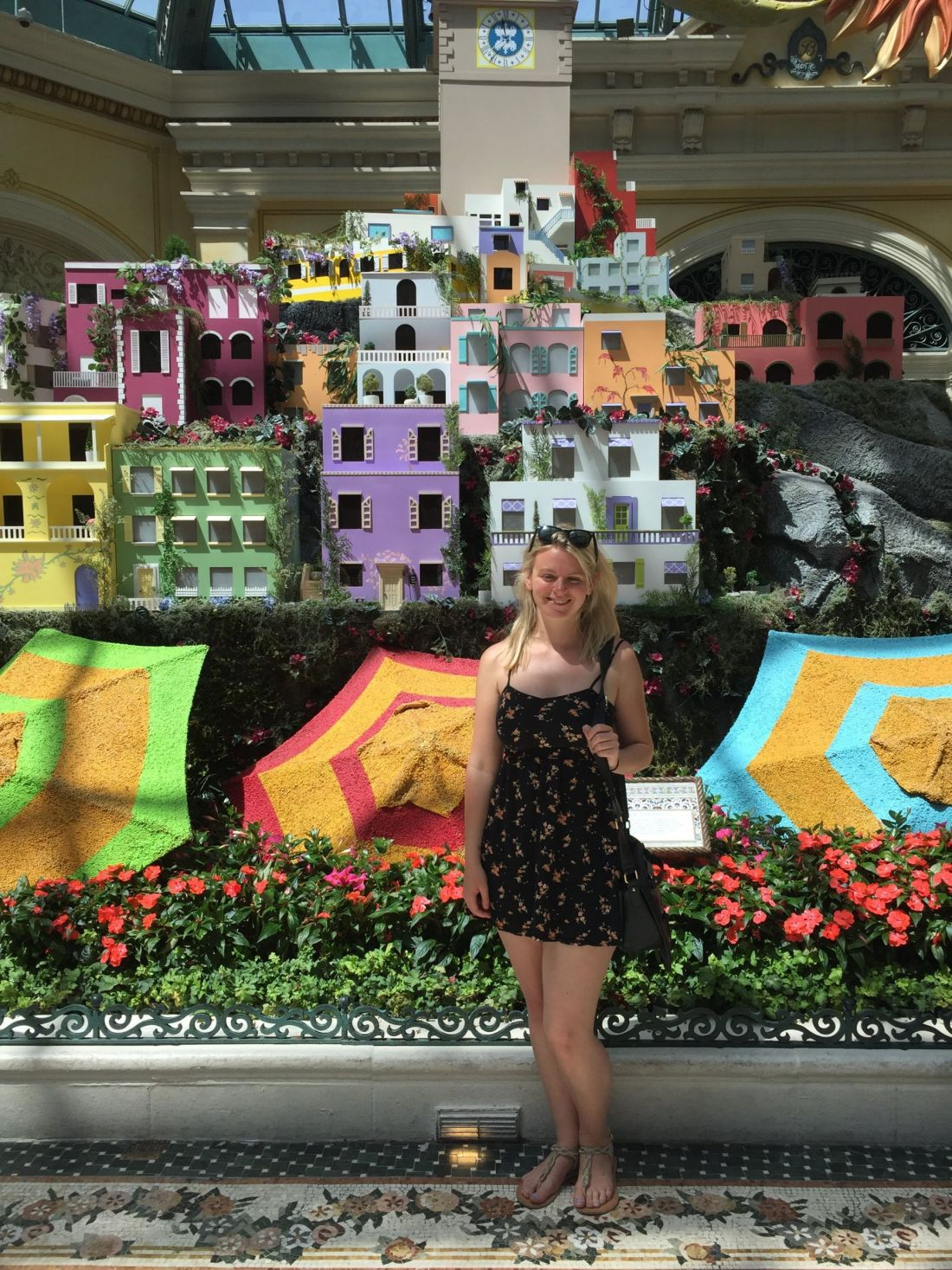 Laura at the Bellagio Gardens