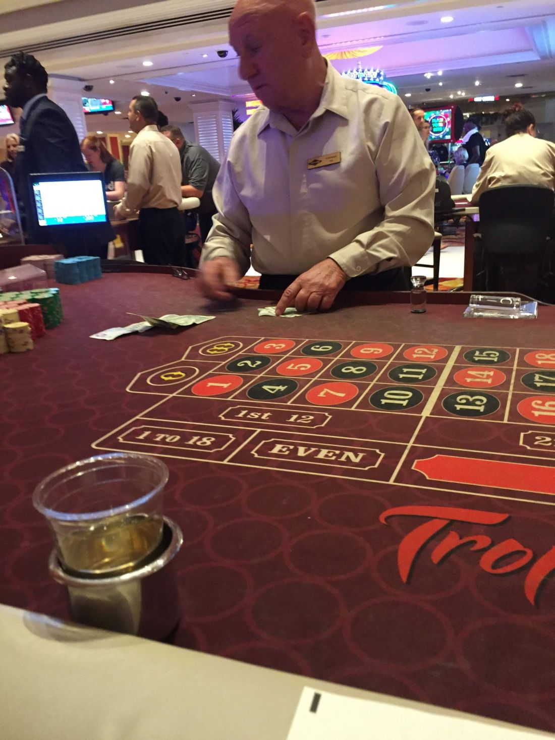 Gambling at the Tropicana Hotel, Las Vegas