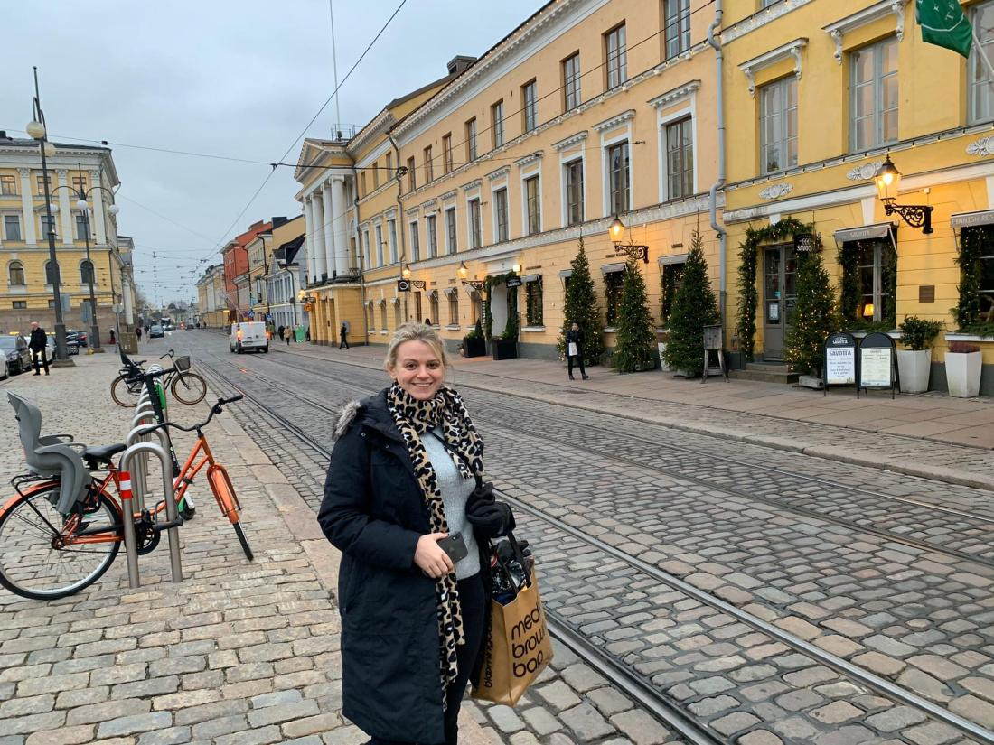 Laura on the Helsinki streets