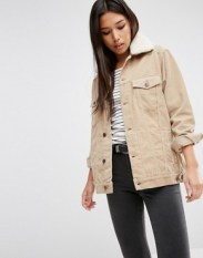 http://www.asos.com/asos/asos-cord-denim-girlfriend-jacket-in-stone-with-borg-collar/prd/6921754?iid=6921754&clr=Stone&SearchQuery=cord&pgesize=119&pge=0&totalstyles=119&gridsize=3&gridrow=38&gridcolumn=1