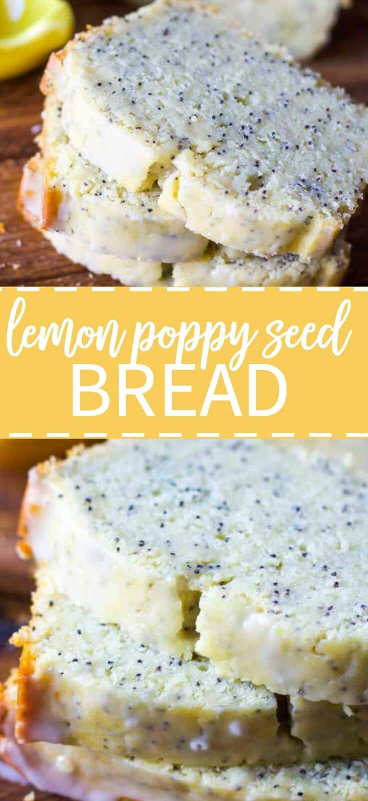Light and zesty lemon poppy seed bread that's moist and lightly sweet made for brunch or dessert this spring!