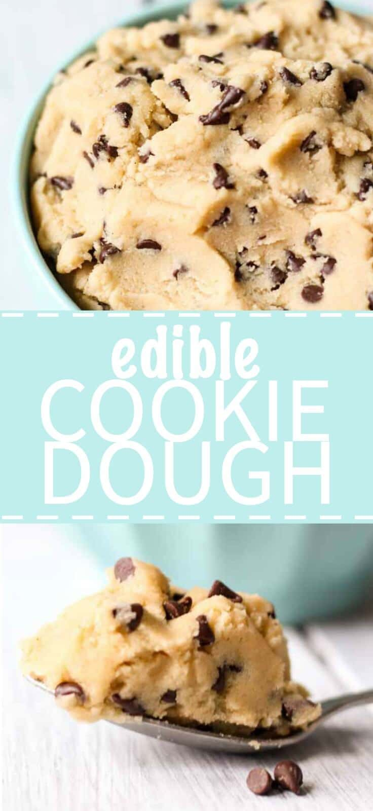 Edible cookie dough is sweet and delicious! It's like eating the real cookie dough, minus the eggs so you can eat it by the spoon full without a care in the world.