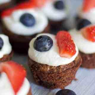 Mini Patriotic Brownies